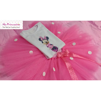 Disfraz Nena Tutu Y Remera 1 A 3 Años Princesa Minnie Barbie
