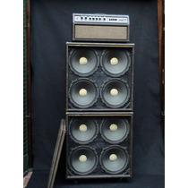 Amp.acoustic 160 Valvular 2 Gabinetes 4x12´ Vintage L.marrón
