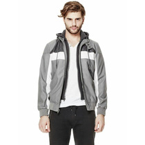 Campera Hombre Guess Con Capucha Desmontable Extra Large