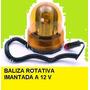 Baliza Giratoria Imantada Potenciada 12v Y 220 V Con Transfo