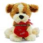 Perro Sentado C/sonido Peluche 56 Cm Te Amo San Valentin