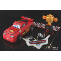 Rayo Mc Queen Cars En Porcelana Fria Adorno Torta Cars2