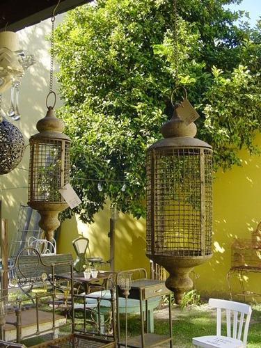 Par de fanales marroquies faroles colgantes estilo antiguo for Faroles para jardin exterior