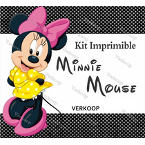Kit Imprimible Minnie Mouse Invitaciones Tarjetas Frames Ar