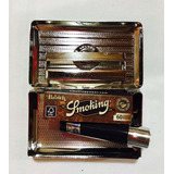 Cigarrera Porta Tabaco Smoking Papeles De Regalo Y Clipper