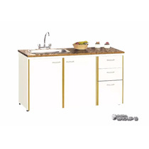 Bajo Mesada Platinum Mod. 3006 De 1,40 Mts Muebles De Cocina