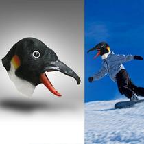 Mascara Latex Pingüino Pajaro Disfraz Animal Loco Halloweeen