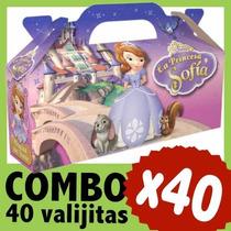 Sofia Princesa Cajita Valijita Bolsita Souvenir Combo X 40