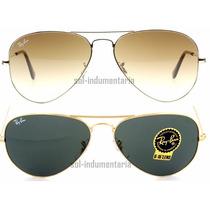 Anteojos De Sol Ray Ban 3025 Aviator Aviador Espejado Gafas