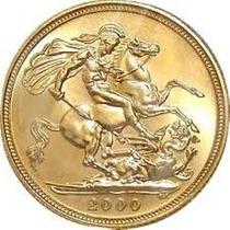 Moneda Libra Esterlina Oro