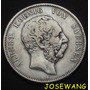 5 Mark .moneda Antigua Alemana Del Año 1876 Plata