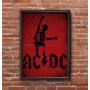 Cuadro Decorativo Ac/dc 30x42cm Lamina Póster