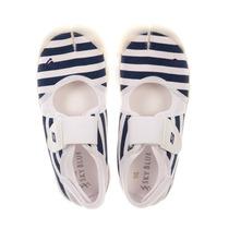 Sky Blue Zapatillas Mujer Dama Rayas Azul Blanco Dedo Nº 39