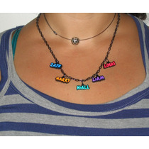Collar O Pulsera Nombres One Direction - 5 Dijes Exclusivos