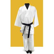 Karate - Gi Blanco. Mediano 9oz Gabard. Talle 0 - 1