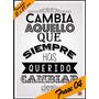 Laminas Autoadhesivas - Frase #04 - 21 X 29 Cm - Precio 2 X