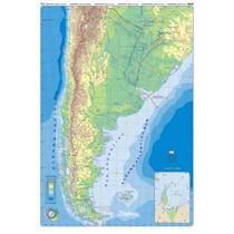 Mapa Mural Argentina Doble Faz - Físico/político 130 X 95