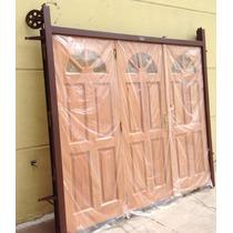 Portón Levadizo Garage Madera Cedro 2.40x2.00 Secado A Horno