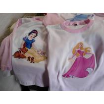 Pijamas Niñas - Princesas - Invierno - Talle 2-4