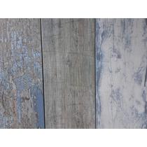 Porcelanato Tablas Vintage Azul - 19x60 - Esmaltado