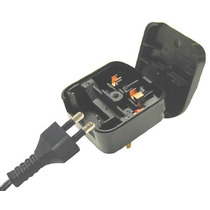 Adaptador Americano Enchufe Seguridad Industrial Con Fusible