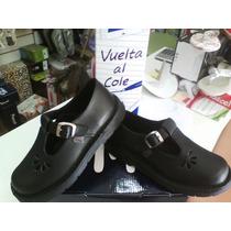 Zapato Colegial Guillermina Marcel Cuero 34/40 Niz´scalzados