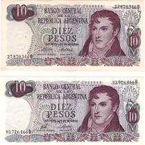 10 Pesos Ley 18.188/69 Bottero