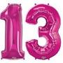 Globos 30cm Números Rosa Cumpleaños Aniversarios Boda Fiesta