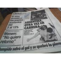 Diario Clarin Mundial 14 Junio 1990 Argentina Otra Vez Z