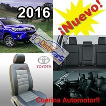 Funda Asiento Toyota Hilux 2016 Con Apoya Brazo