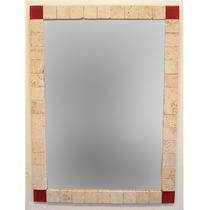 Liquidación Espejo En Travertino Y Venecitas 60x80