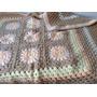 Manta Tejida A Mano Crochet 90*90 Cm Marron Granny