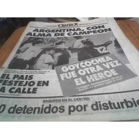 Diario Clarin Mundial 4 Julio 1990 Alma De Campeon Argenti Z