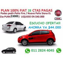 Fiat Plan 100% 28ctas Pre Adjudicado Siena Nuevo Palio Mobi