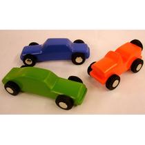 Auto De Madera Colores 7cm Artesanal - Rampa De Autitos