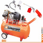 Compresor Lusqtoff 4 Hp 100 Litros Bicilindrico + Accesorios