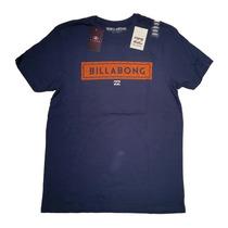 Remera Billabong Original Importada Hombre Azul Talle S/m