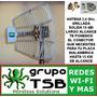 Antena Grillada 2,4 Ghz. 19dbi Rango Extendido Mas Splitter