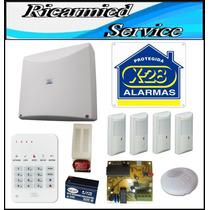 Kit De 4 Zonas Con Llamador Telefónico X-28 Alarmas Ofic Com