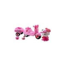 Hello Kitty Moto-playset Scooter Con Luces Y Sellos