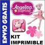Kit Imprimible Angelina Ballerina Para Fiestas Cumpleaños !