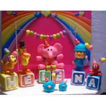 Pocoyo Y Sus Amigos De Fiesta !!! + 6 Cubos Con Tu Nombre!!