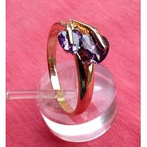 Anillo Oro 14 K Gold Filled Con Tanzanita Purpura Tanzania