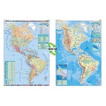 Mapa Mural América Doble Faz - Físico/político 130 X 95