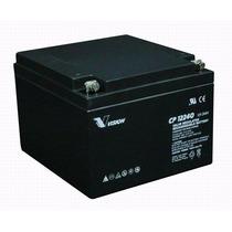 Bateria Vision Cp12240 12v 24ah Para Ups Alarmas Silla Rueda