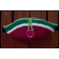 Cartera Bandolera Crochet Modelo Sandía