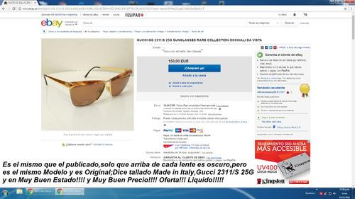 63672e7655 Lentes Gucci Made In Italy Mod.2311/s Originales!! Oferta!!