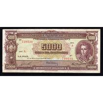 Billete Bolivia 5000 Bolivianos Año 1945 P#145 Alto Valor Mb