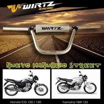 Manubrio De Aluminio Honda Cg Yamaha Ybr Wirtz