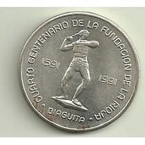 Moneda Plata Provincia De La Rioja Año 1991 1 Diaguita